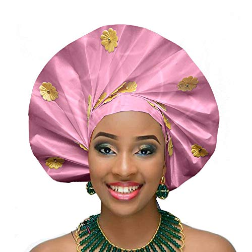 Fabric African| New African auto gele headtie Nigerian Head wrap Wedding Headwear Sego Headband African headtie|by ()