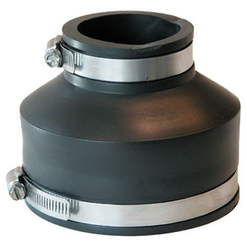 Fernco P1056-415 4-Inch by 1-1/2-Inch Flexible Coupling With Clamp Eljer Cast Iron Sink