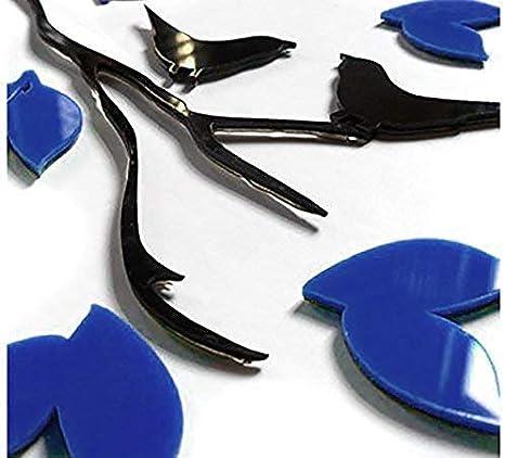 Asvert 3D Wandaufkleber Stereo Wandaufkleber Abnehmbare Wohnzimmer Schlafzimmer Kinderzimmer Sofa M/öbel Hintergrund Sticker Wandtattoo M Blau