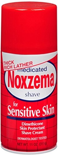Medicated Shave Cream - Noxzema Medicated Shave Cream for Sensitive Skin 11 oz (Pack of 6)