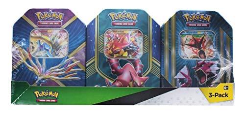 Pokemon TCG: Xerneas EX Pokemon Tin, Fall Battle Heart Tin Volcanion-EX, and Triple Power Tin (Shiny Gyarados) -