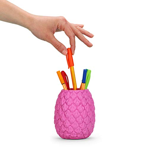 Mustard Totally Tropical Pen Pot - Pink (M16061B) - Isle Spice Tropical
