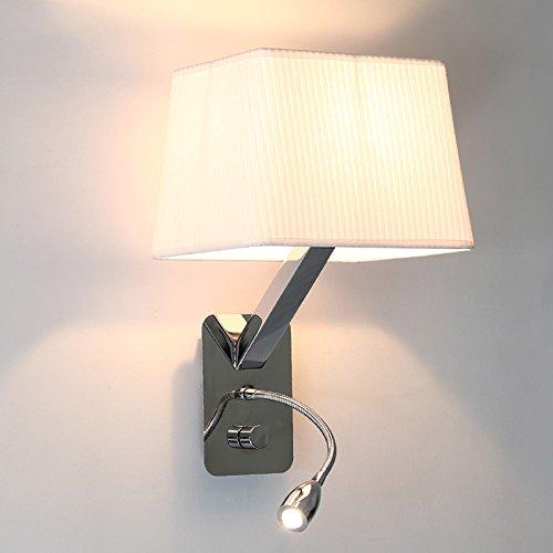 Wandleuchte mit Schalter Schwanenhals Leselicht Schlafzimmer Nachttisch Edelstahl Flanell Lampenschirm Lampenschirm Lampenschirm Schwarz Weiß E27 59fdc6