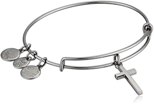 Alex and ANI Womens Cross II EWB Bangle Bracelet, Expandable