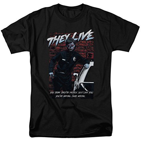 They Live Dead Wrong T-shirt, Black, -