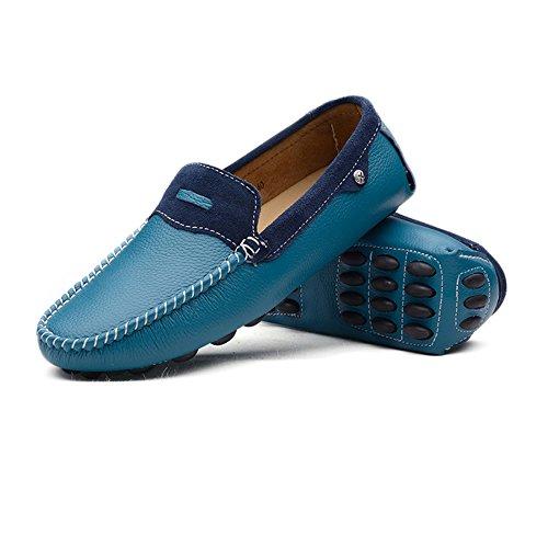 pour Bleu 39 Bleu Mocassins Homme shoes EU Shufang PSUwOqRWP