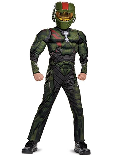 Halo Wars 2 Jerome Classic Muscle Costume, Green, Medium (7-8)