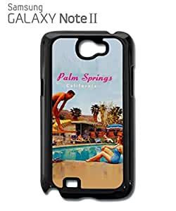 California Palm Springs Retro Vintage Cell Phone Case Samsung Note 2 Black