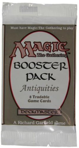 Magic The Gathering Card Game - Antiquities Booster Pack - 8 cards (Antiquities Magic Card)