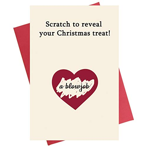 Scratch Christmas Card, Funny Interactive Merry Xmas Greeting Card for Husband Boyfriend Fiance (Christmas Boyfriend Greetings For)