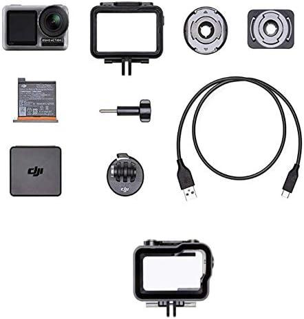 DJI Osmo Action Cam - Caméra d'action, Snapshot, Imperméable 11M, Contrôle Vocal + DJI Osmo Action Part 12 Étui Étanche - Étui de Protection Submersible pour Osmo Action jusqu'à 60m