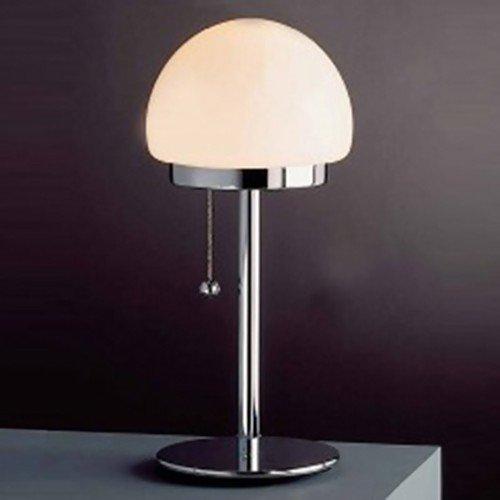 Bon Classic Lamp Cloud Table Lamp Chrome Glass Opal 60 W