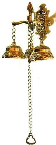 Antique Style Shopkeepers Triple Bell ~ Brass Store Doorbell Decor Doorbell