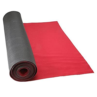 """27"""" x 20' Neoprene Floor Runner - RED - Reuseable Floor Protection Slip Proof Surface, Non-Skid Bottom, Protect All Floor Surfaces 