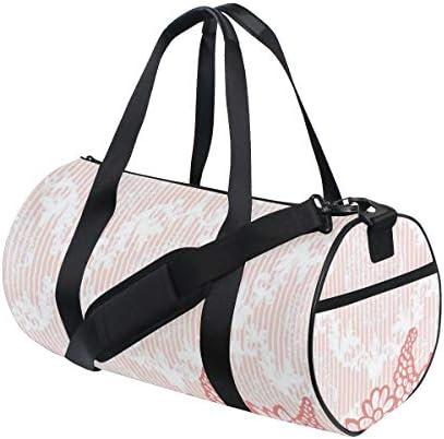 PONIKUCY Sporttasche Reisetasche,Coole künstlerische Welle wie Ombre Design mit lebendigen Farbpunkten Kunstwerk,Schultergurt Handgepäck für Übernachtung Reisen