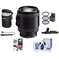 Sony PZ 18-200mm F3.5-6.3 OSS Alpha E-Mount NEX Camera Lens, Black - Bundle with 67mm Filters & Software