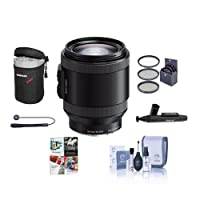 Sony PZ 18-200mm F3.5-6.3 OSS Alpha E-Mount NEX Camera Lens, Black - Bundle with 67mm Filters & Software