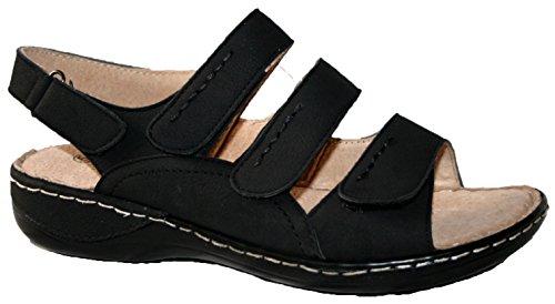 Cushion Walk - Sandalias de vestir de sintético para mujer black 3 straps