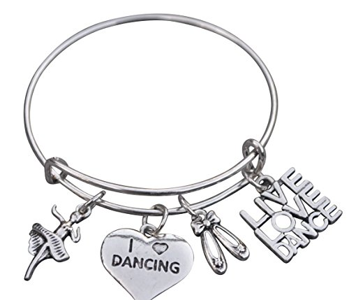 Infinity Collection Dance Bangle Bracelet- Dance Jewelry for Dance Recitals, Dancers and Dance Teams