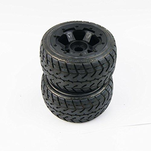 On road Wheel Tire on 6 Spoke Wheels fit HPI Baja Rovan Buggy 5B SS King Motor ()