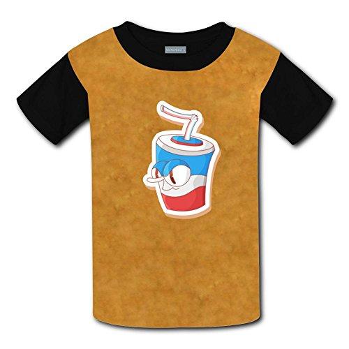 Yangjio Tshirt Cute Drinks Costume M Short Sleeve For Kids ()