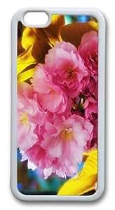 Beautiful Flowers Custom iphone 6 plus 5.5 inch Case Cover TPU White