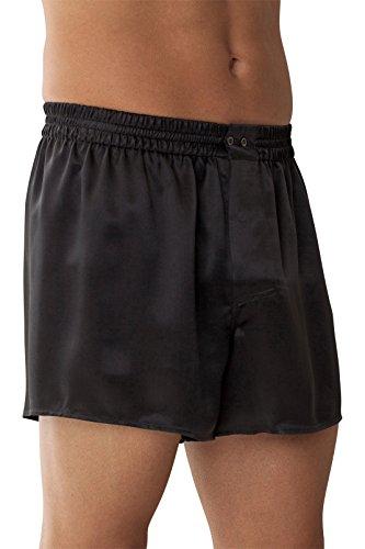 Zimmerli Silk Boxer - Zimmerli Men's Woven Silk Boxer Nightwear S Charcoal
