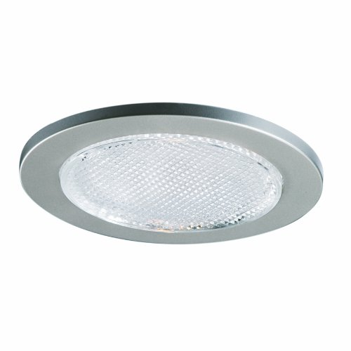 - EATON Lighting 951SNS 4-Inch Trim Lensed Showerlight, Satin Nickel Trim with Glass Lens