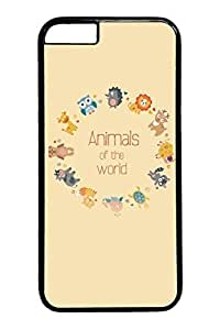 6 plus Case, iPhone 6 plus Case - Black Hard Back Cover for iPhone 6 Plus Animals Of The World Scratch-Resistant Case and Cover for iPhone 6 Plus 5.5 inches