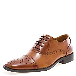 JUMP NEWYORK Men's Lawrence Oxford Shoe Tan 9.5 D US