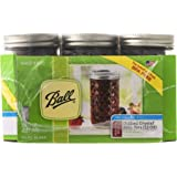 Ball Regular Mouth Quilted Crystal Jelly Jars with Lids and Bands, 12 oz, 12 Count
