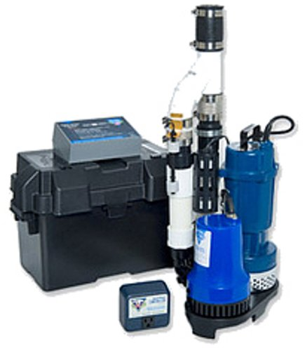 Glentronics, Inc. PS-C22 PHCC 2770 Gallons Per Hour Pro Series 1/3 HP Combination Sump Pump System with battery box