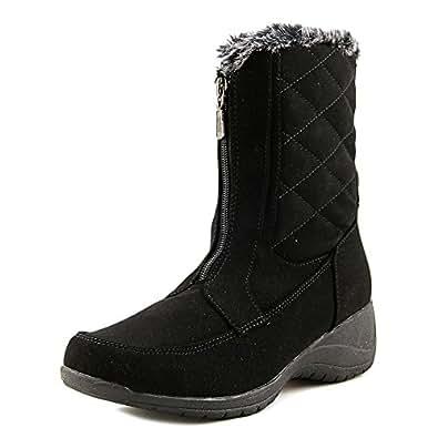 Khombu Women's Angie Mid Calf Winter Boot Black 11 B(M) US