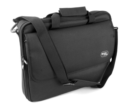 DURAGADGET Water Resistant Black Briefcase With Detachable Shoulder Strap For ASUS X401A Laptop - (Intel Pentium B980 2.4GHz Processor, 4GB RAM, 320GB HDD, LAN, WLAN, Webcam, Integrated Graphics, Windows 8) & ASUS VivoBook S400 (2.4 Ghz Pentium)