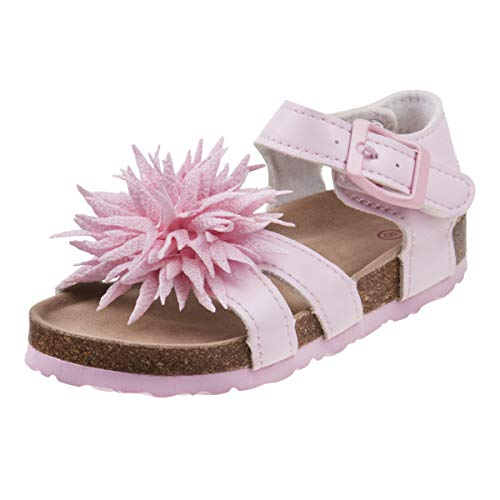 Laura Ashley Girls Pointed Flower Sandal, Pink, 8 M US Toddler' (Pink Flower Sandals Girls)