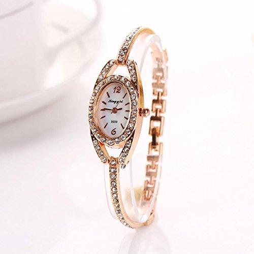 IEason,Fashion Women Lady Bracelet Stainless Steel Crystal Quartz Watch - Bracelet Stainless Steel Watch Quartz