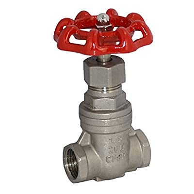 """1/2"""" Gate Valve Stainless Steel SUS SS 316 CF8M Heavy Duty NPT from Generic"""