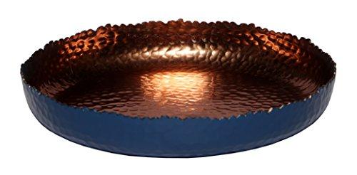 Melange Home Decor Cuivre Collection, 9-inch Round Platter, Color - Navy, Pack of 12 by Melange (Image #1)
