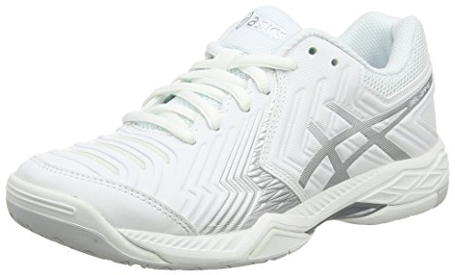 White Women's 6 Silver Gel Off Asics Sneakers White Game qYBHWxFZ