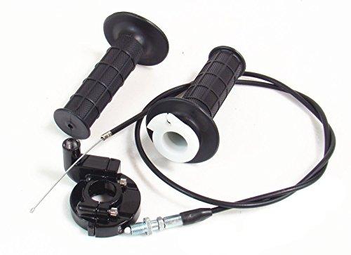 Auto-Moto Throttle Cable & Handle bar Grip & Casing Set for Suzuki Motor Suzuki A100 AC100 DR100 DR125 DR125SE DRZ110 DRZ125 DRZ125L GN125E GN250 ()
