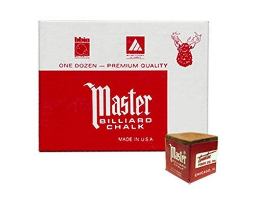 Masters GOLD/TAN Cue Chalk - 2 dozen ()