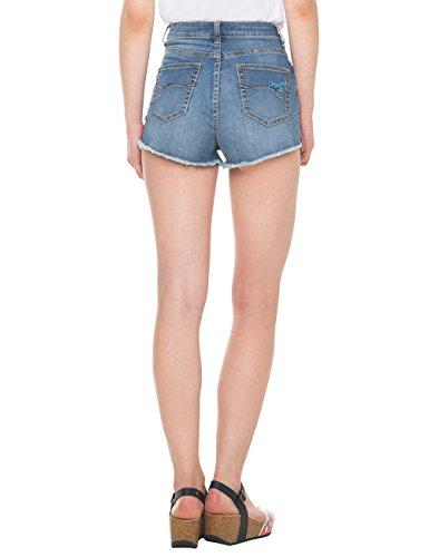 Medium Azul 5160 Para Short Shorts Mujer Ethnic Desigual denim Light xCOq1Tw