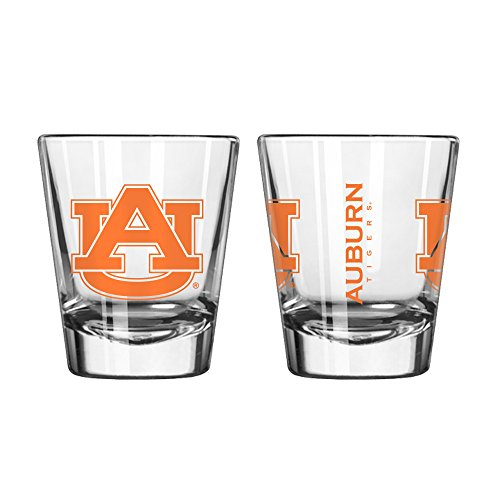 thentic NCAA Logo 2 oz. Shot Glasses 2-Pack Bundle. Show your School and Team Pride at home, your Bar or at the Tailgate. Great Collegiate Gift (Auburn Tigers) ()