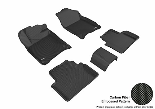 3D MAXpider L1HD07401509 All-Weather Mat (Custom Fit Black Kagu Rubber Complete Set for Select Honda Civic Coupe/Sedan ()