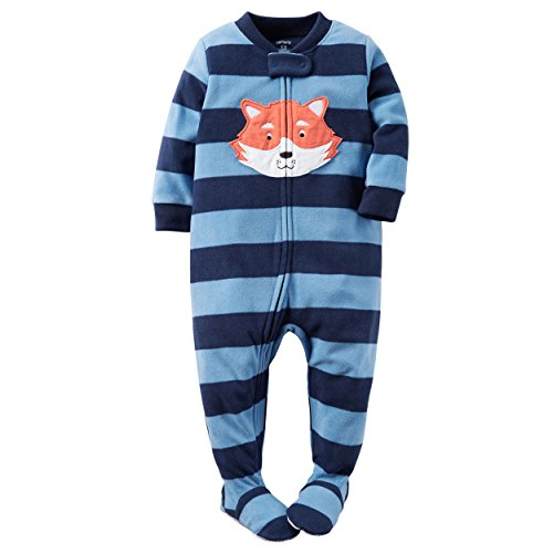 Carter's Baby Boys 1 Pc Fleece, Blue Fox, 18 - Infant Fleece Sleepers