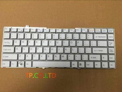 US Laptop Keyboard for Sony FW VGN-FW FW17 FW19 FW27 FW35 FW48 White Without Frame