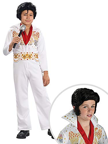 Elvis Costume Kit Kids Medium With Wig -