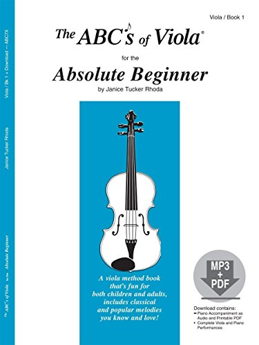 The ABCs of Viola for the Absolute Beginner, Book 1 (Book & MP3/PDF)