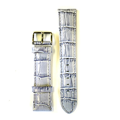Leather Croco Embossed Lavender 20 Millimeters Watch Strap