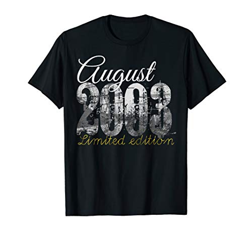 August 2003 Tee - 16 Year Old Shirt 2003 16th Birthday Gift T-Shirt